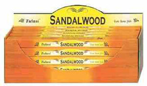 Tulasi Sandalwood Incense - 8 Sticks Pack (25 Packs Per Box)