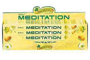 Tulasi Meditation Incense - 8 Sticks Pack (25 Packs Per Box)