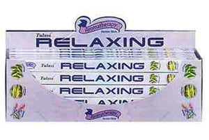 Tulasi Relaxing Incense - 8 Sticks Pack (25 Packs Per Box)