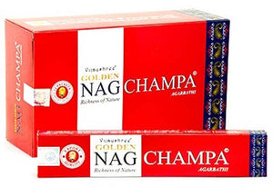 Golden Nag Champ Incense - 15 Gram Pack (12 Packs Per Box)