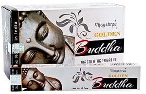 Golden Buddha Incense - 15 Gram Pack (12 Packs Per Box)