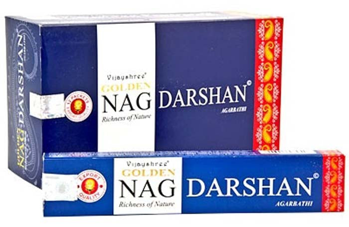 Golden Nag Darshan Incense - 15 Gram Pack (12 Packs Per Box)