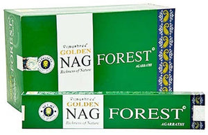 Golden Nag Forest Incense - 15 Gram Pack (12 Packs Per Box)