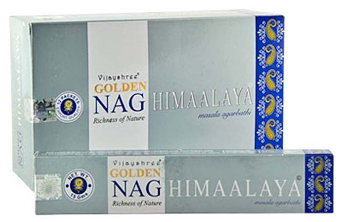 Golden Himalaya Incense - 15 Gram Pack (12 Packs Per Box)