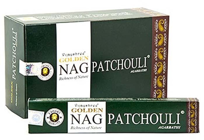 Golden Nag Patchouli  Incense - 15 Gram Pack (12 Packs Per Box)