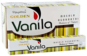 Golden Vanilla Incense - 15 Gram Pack (12 Packs Per Box)
