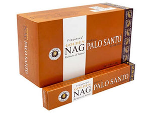 Golden Nag Palo Santo Incense - 15 Gram Pack (12 Packs Per Box)