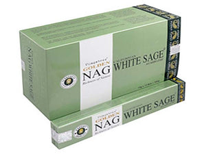 Golden Nag White Sage Incense - 15 Gram Pack (12 Packs Per Box)
