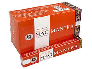 Golden Nag Mantra Incense - 15 Gram Pack (12 Packs Per Box)