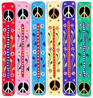 "Peace Sign Wooden Incense Burner - 10""L (6 pieces)"