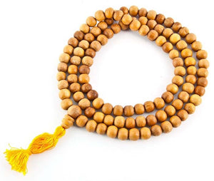 Tibetan Wooden Prayer Mala Fine - 10mm