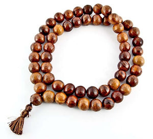 54-beads Sheesham Wood Prayer Mala - 16mm