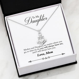 To Daughter From Mom - Friendship Anchor Necklace