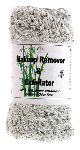 Makeup Remover and Exfoliator Bamboo Charcoal Cloth (1) Large and (3) Travel Size