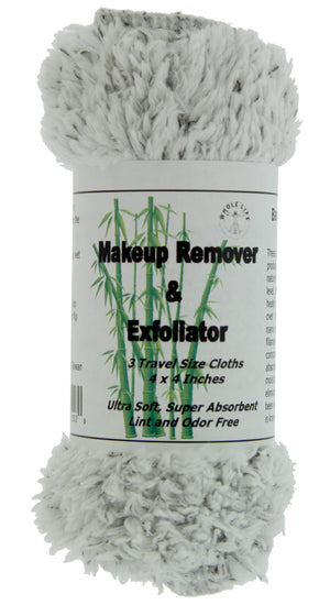 Makeup Remover and Exfoliator Bamboo Charcoal Cloth (3) Travel Size