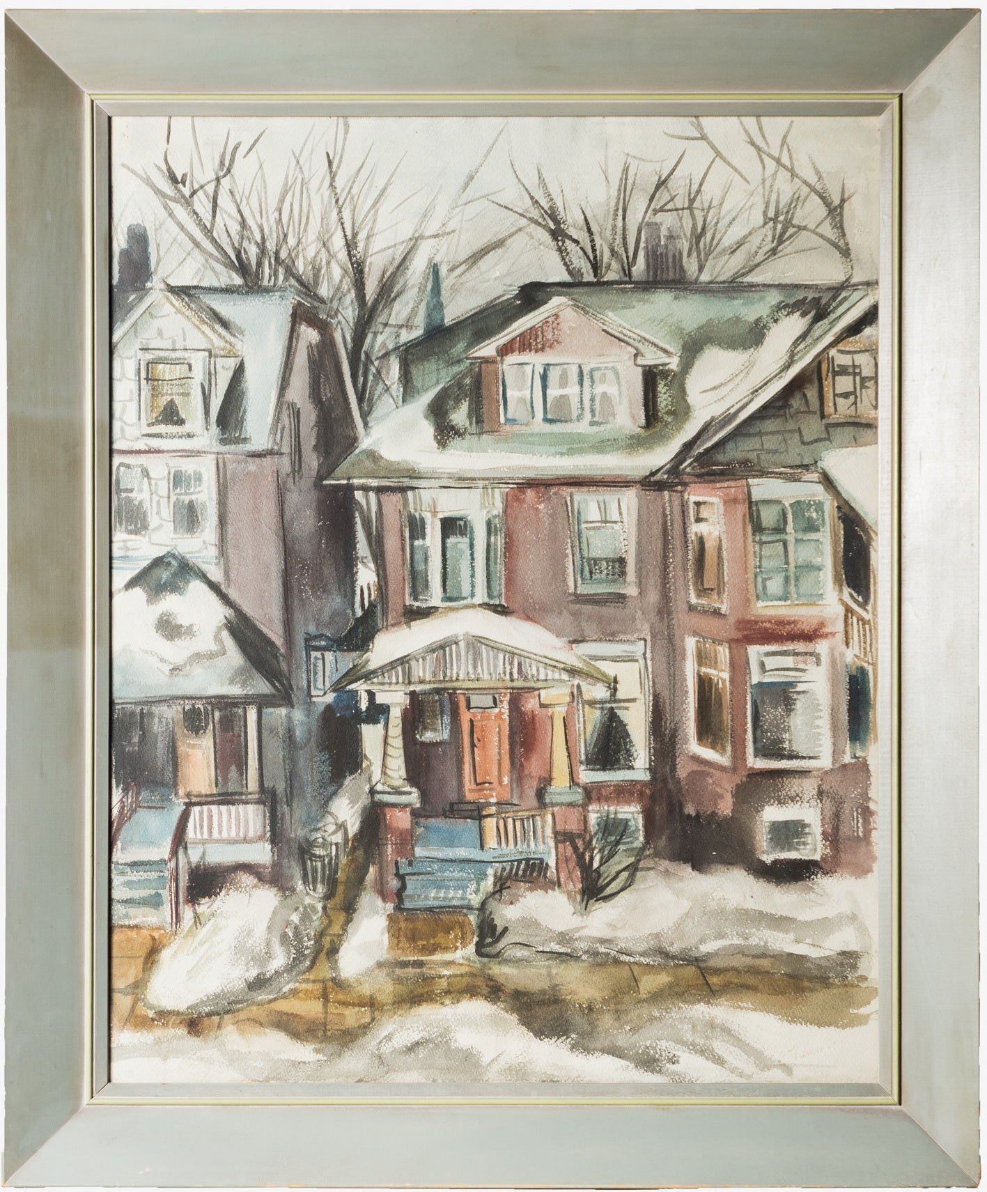 Watercolour painting - Toronto Houses - CreativeCollection