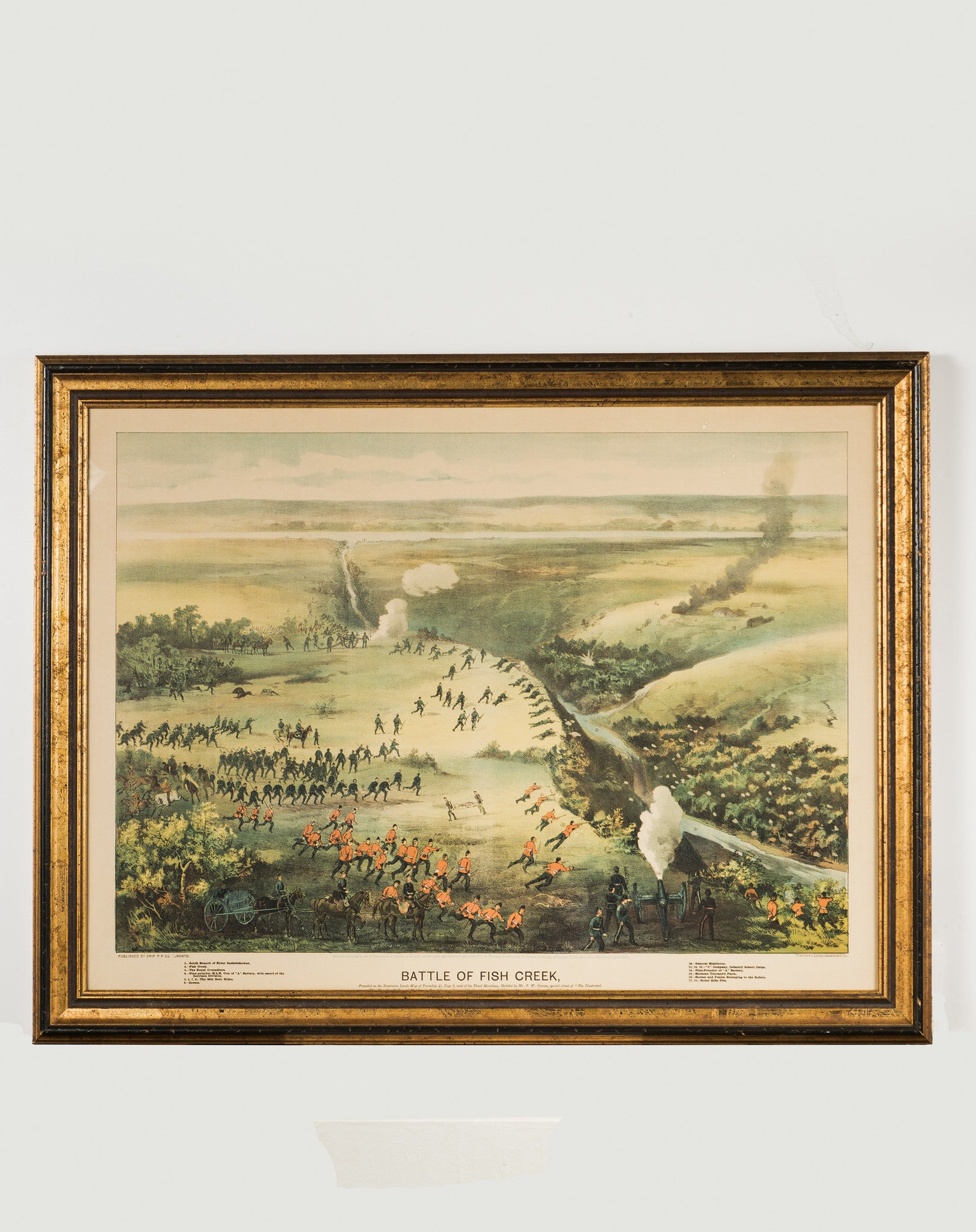 "Historical Art - ""Battle of Fish Creek"" (Riel Rebellion) - Art Lithograph - CreativeCollection"
