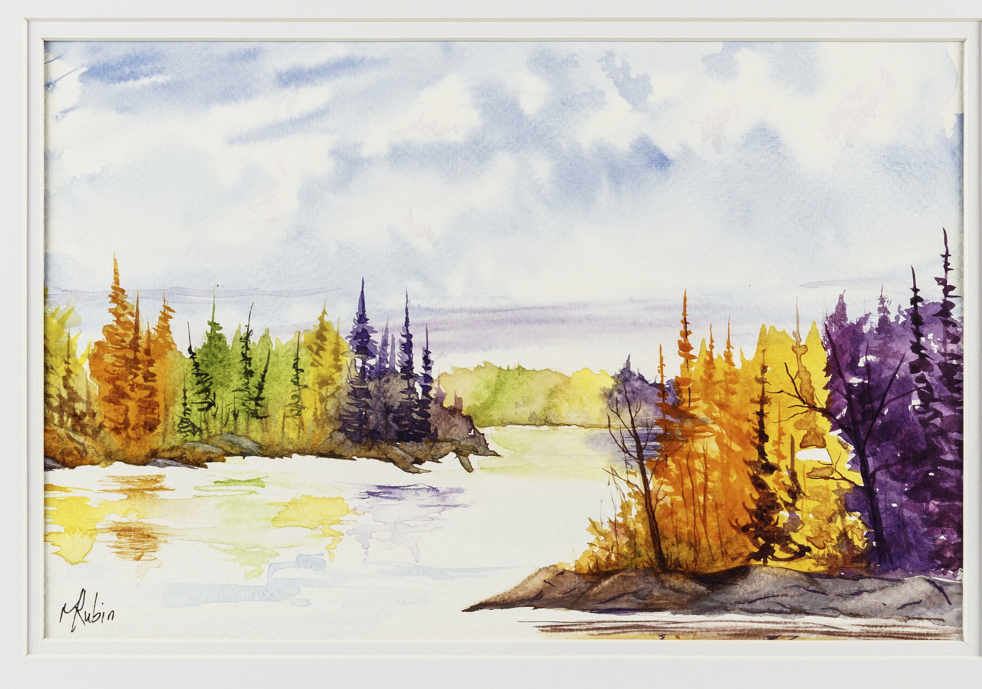 """Autumn Colors""  - Watercolor Painting - CreativeCollection"