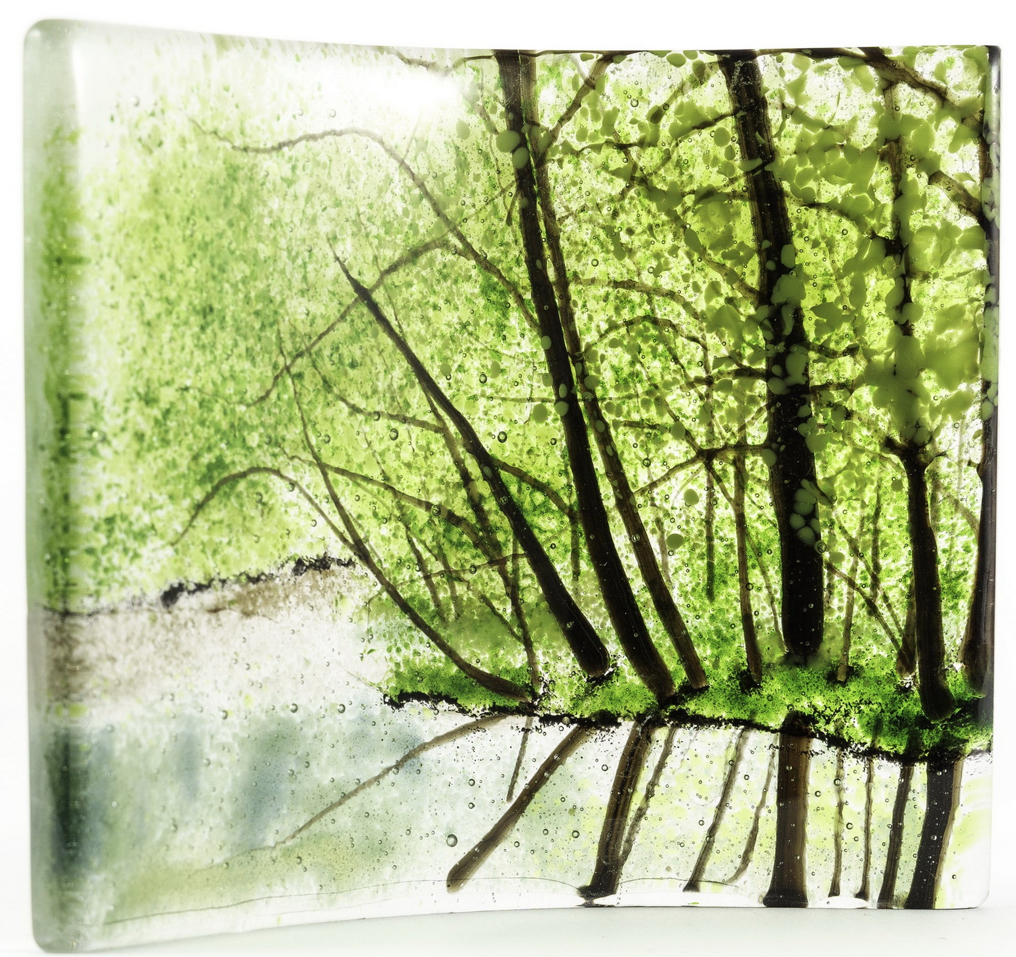 """Spring Forest Reflection"" - Glass Art - CreativeCollection"