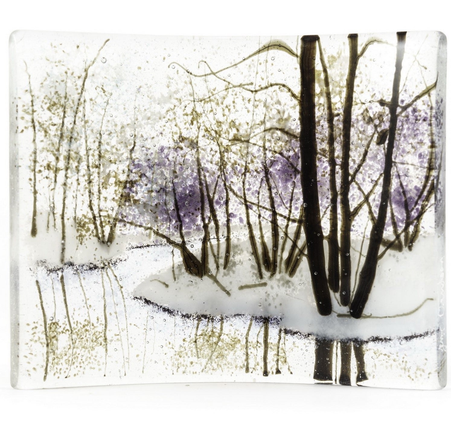"""Winter Forest Reflection""  - Glass Art - CreativeCollection"