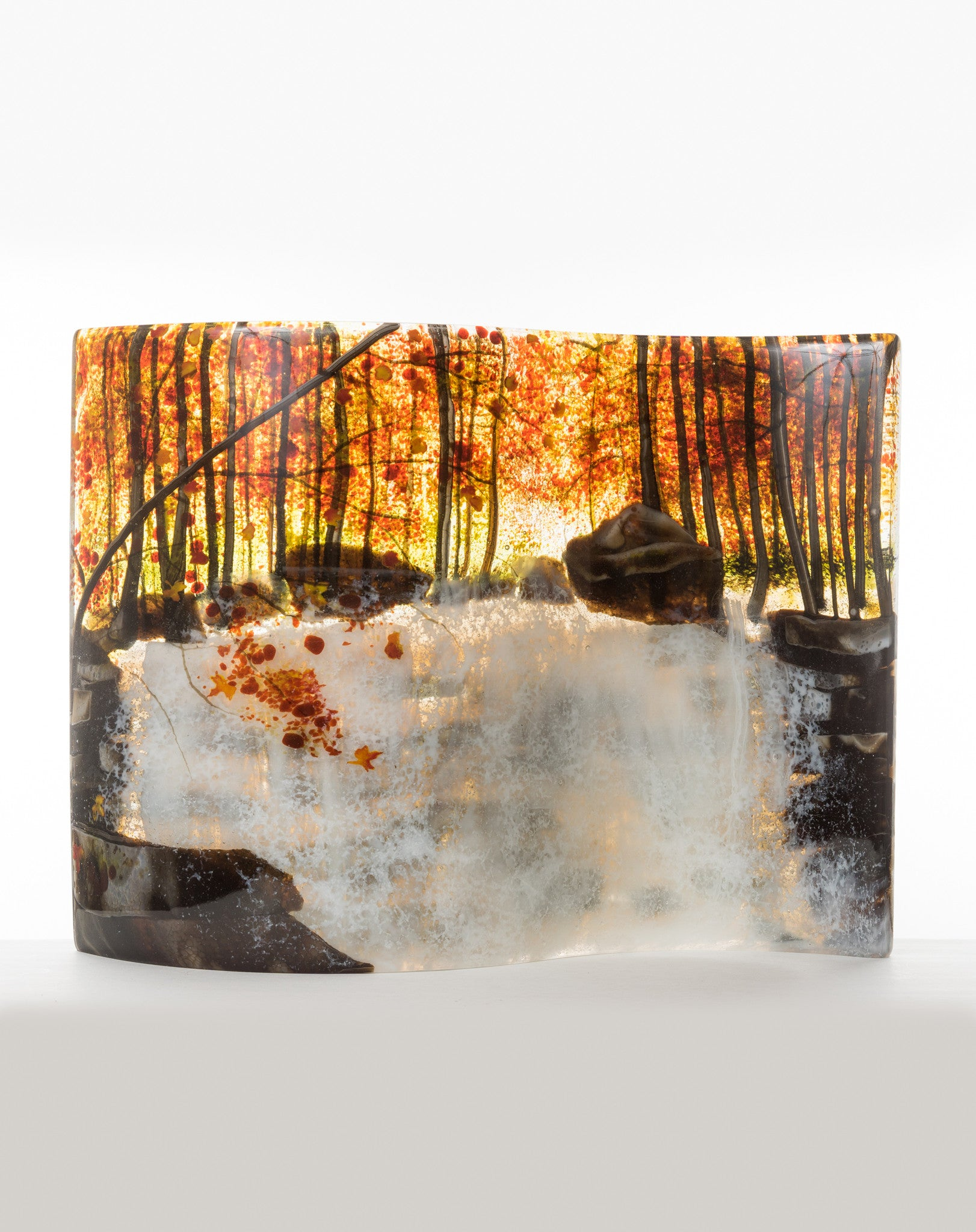 "Glass Art - ""Autumn Cascade"" - CreativeCollection"