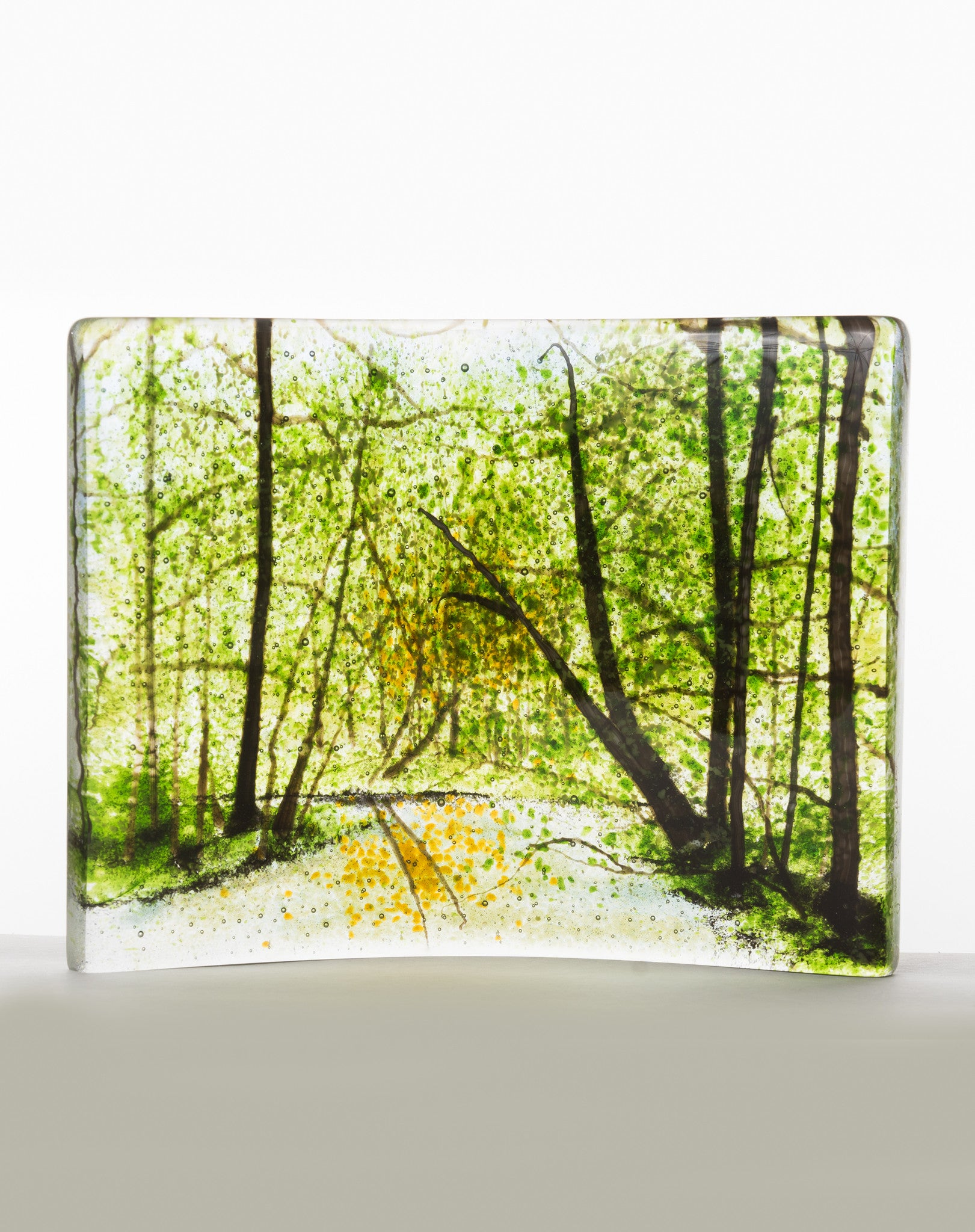 "Glass Art - ""Spring Forest"" - CreativeCollection"
