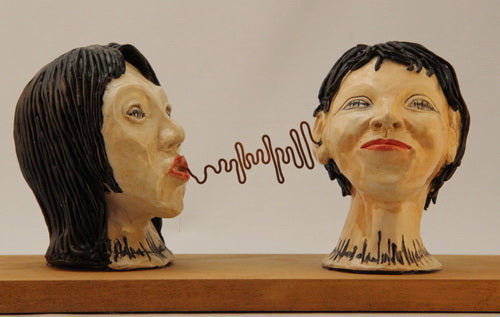 """Gossip"" Hand Sculpted Stoneware - CreativeCollection"