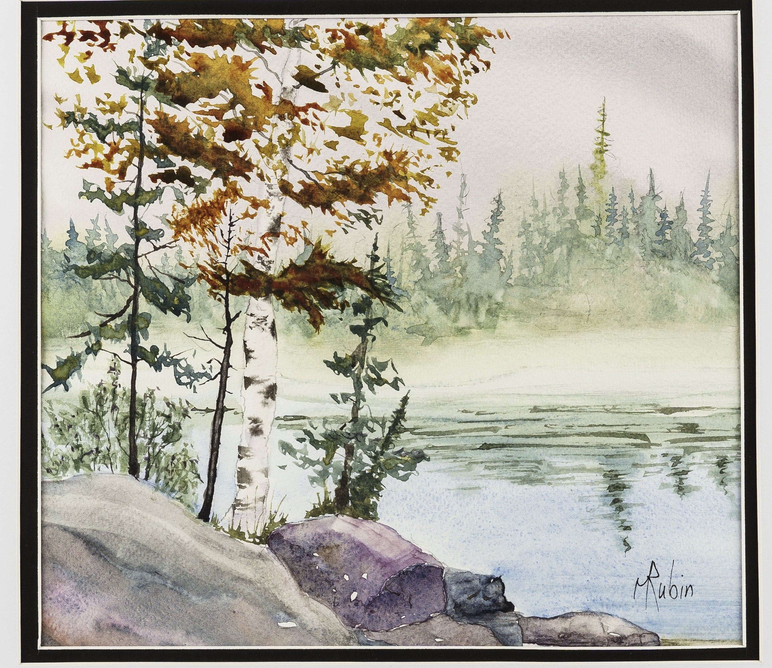 "Watercolor painting - ""Morning Mist #2"" - CreativeCollection"