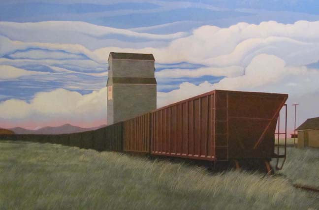 On The Crowsnest Line (Oil Painting) - CreativeCollection