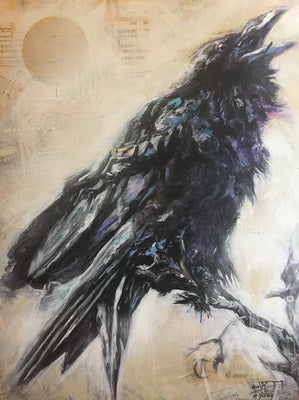 Raven (Pachelbell's Canon) - Acrylic Painting - CreativeCollection
