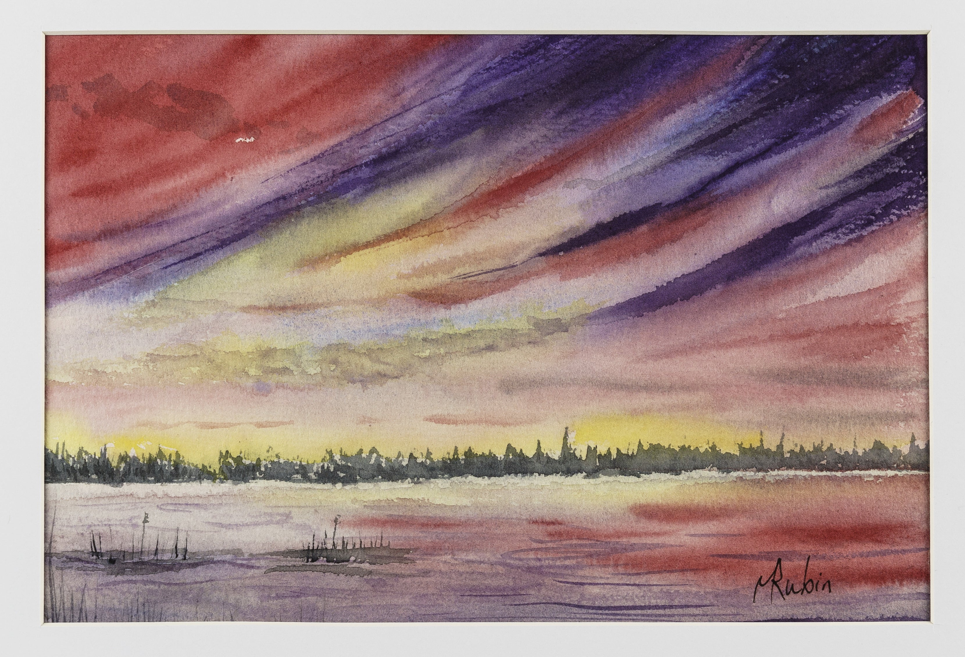 "Watercolor Painting - ""Sunset #1"" - CreativeCollection"