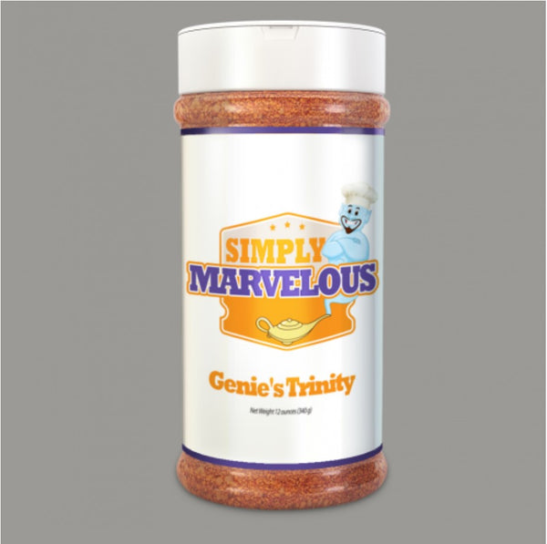 Simply Marvelous BBQ Rub Genie's Trinity - 12oz - Humphreys Smokers