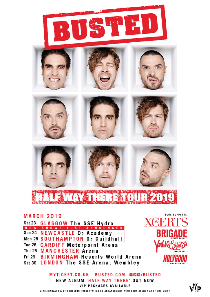 "Supporting Busted on their ""Half Way There"" Tour 2019"