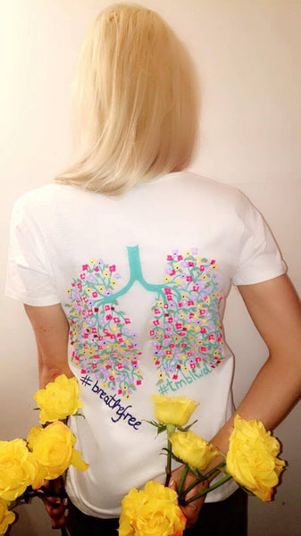 #BreatheFree Hand Painted T-shirt - MADE TO ORDER