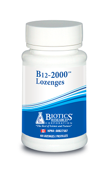 BIOTICS RESEARCH B12-2000 60 LOZENGES