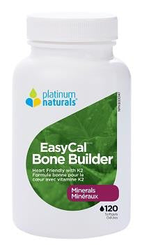 PLATINUM NATURALS EASYCAL BONE BUILDER 120 veg caps