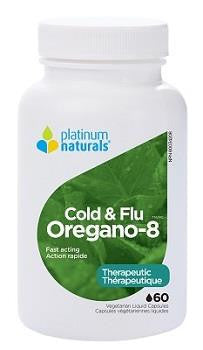 PLATINUM NATURALS OREGANO-8 COLD and FLU 60 liquid caps