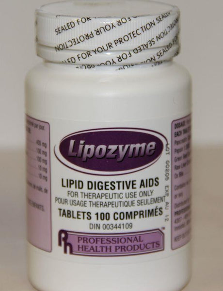 PROFESSIONAL HEALTH LIPOZYME 100 tablets