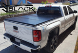 1988-2018 Chevy Silverado 6.5ft Bed - Hard Tri-fold Cover - Solid Fold Tonneau Cover (Top Mount)