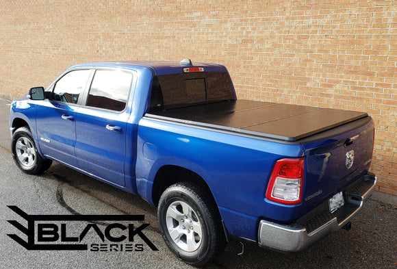 2019 Dodge Ram 5.8ft Short Bed - Hard Tri-fold Cover - Solid Fold Tonneau Cover (Top Mount)