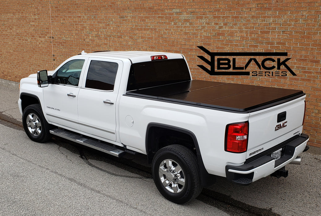 GMC Sierra HD Hard Tri-Fold Solid Tonneau Cover
