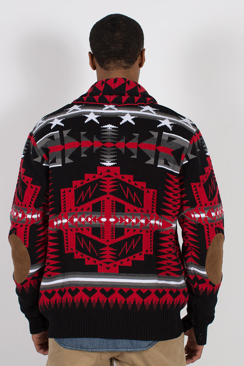 Prince Aztec Cardigan - Sweater - Born Fly