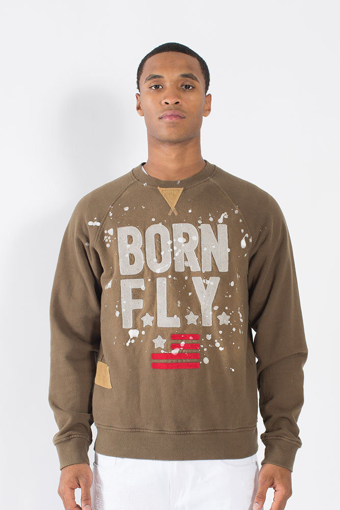 Black Belly Crew - Sweatshirt - Born Fly