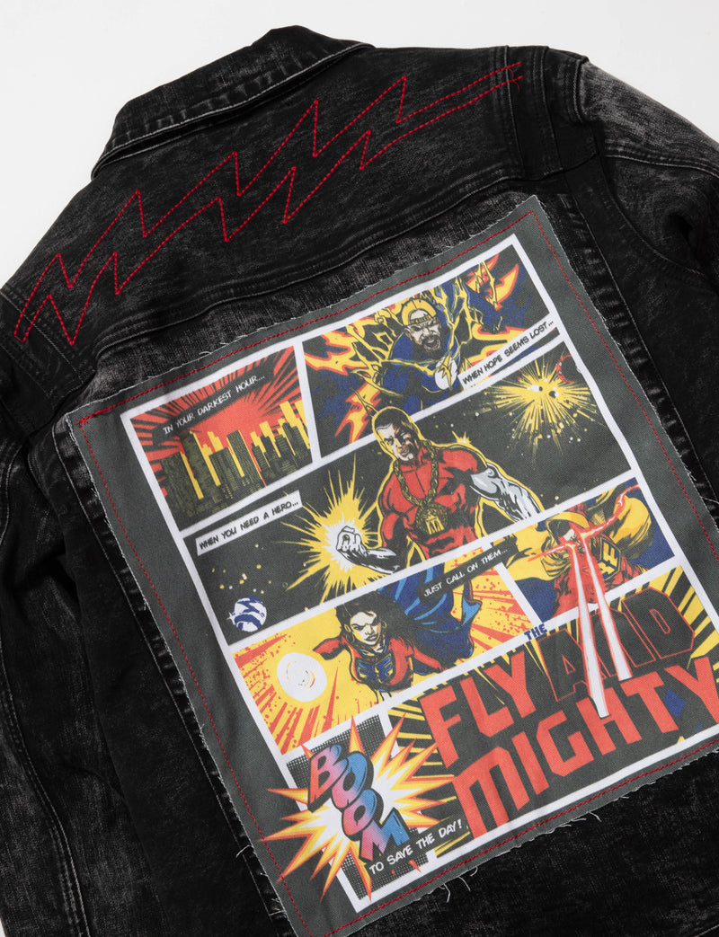 Rasta Man Denim Jacket