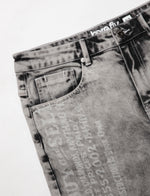 Cheque Denim Short