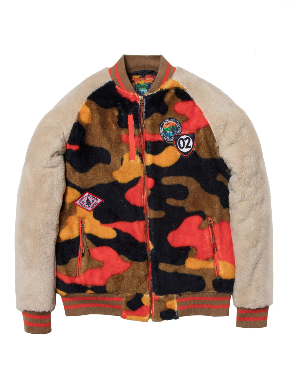Leaves Sherpa Jacket