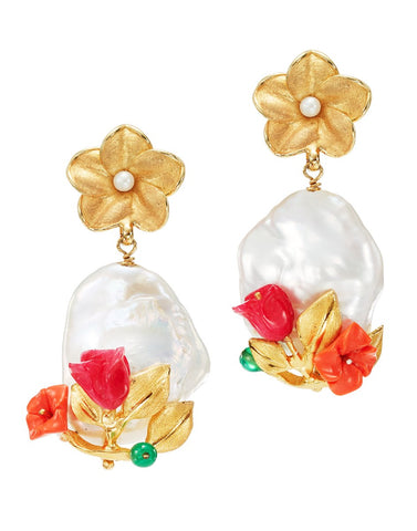 Power Pearl Drop Earring