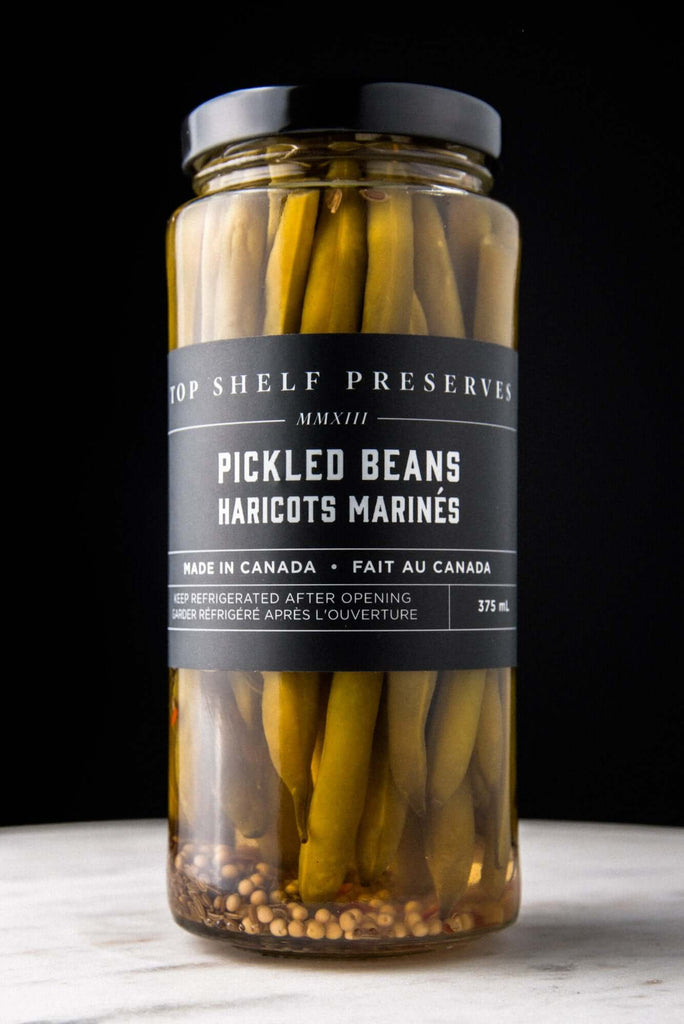 Top Shelf Preserves-  Pickled Beans (375ml)