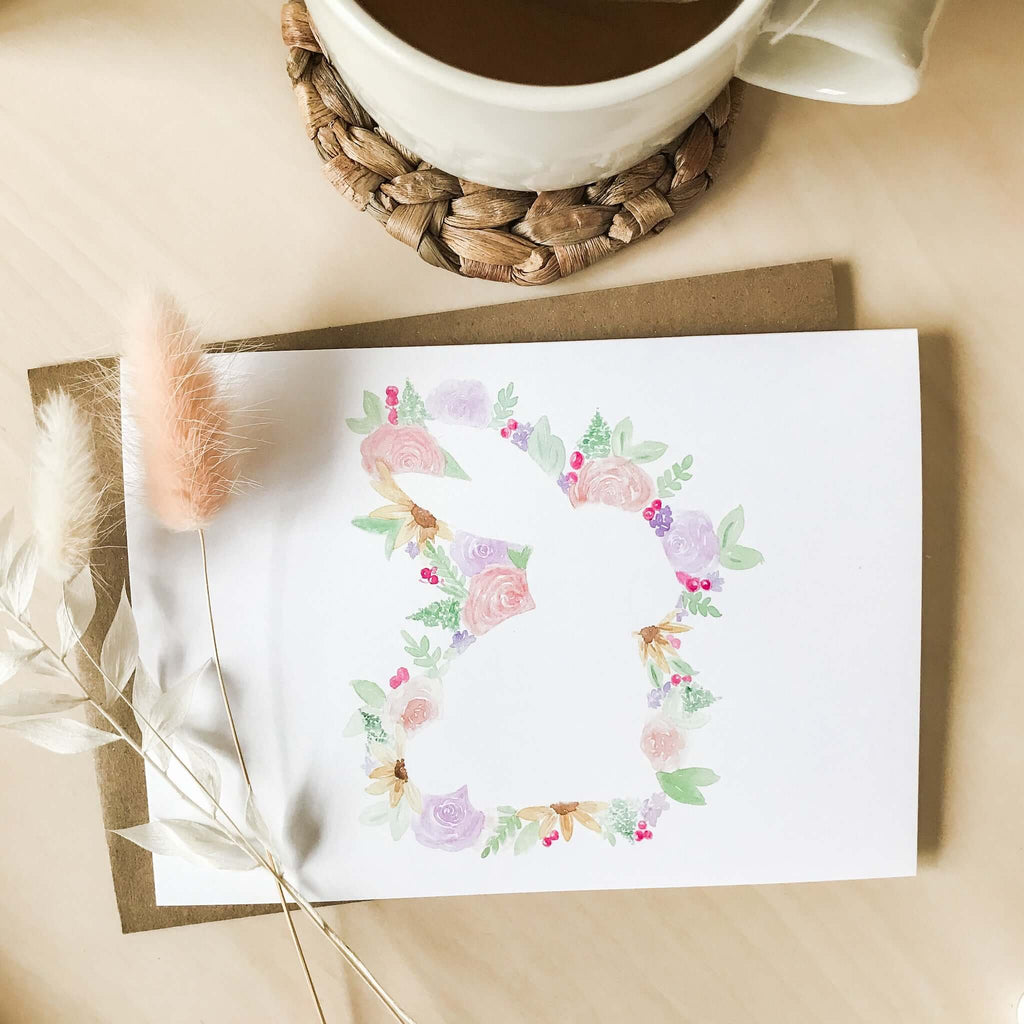 "A Bloom Made- ""Floral Bunny"" Card"