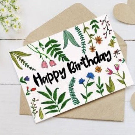 "Wild Juniper - ""Happy Birthday"" Card"